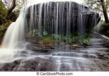 bridal falls - a close view of Weeping Falls at Wentworth...