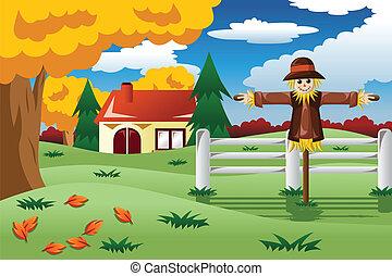 Scarecrow in the Fall season
