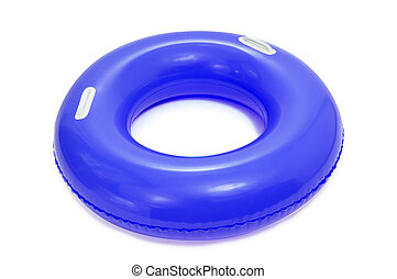 swim ring - a blue swim ring on a white background