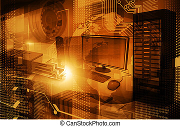 Modern digital technology background