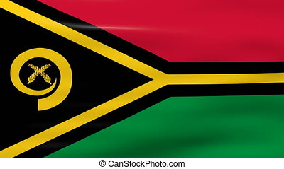 Waving Vanuatu Flag, ready for seamless loop