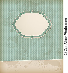Vintage background with label