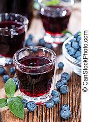 Blueberry Liqueur Shot - Blueberry Liqueur in a shot glass...