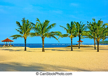 Nusa dua beach on Bali island - Nusa dua beach on Bali with...