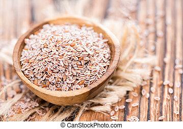 Psyllium - Heap of fresh Psyllium seeds (detailed close-up...