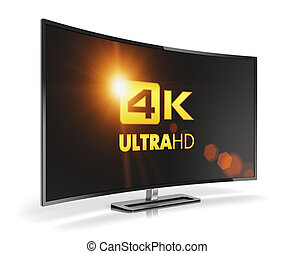 Curved 4K UltraHD TV - Creative abstract ultra high...