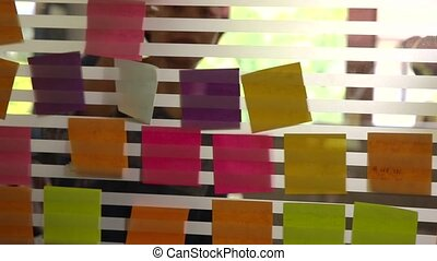 Creative business with post it - Creative business...