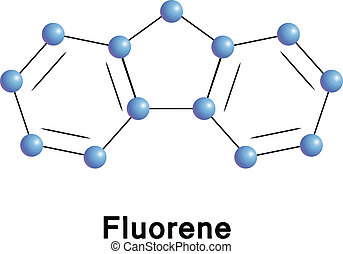 Fluorene chemical compound molecular structure Vector...