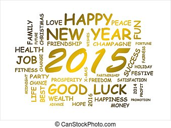 new year 2015 - word cloud for new year 2015
