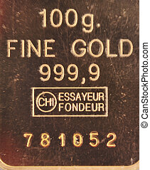 100 grams of pure gold - 100 Grams of Pure 24 carat Gold