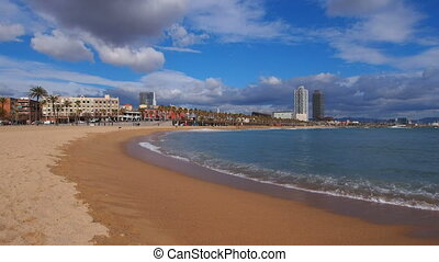 Barceloneta Beach in Barcelona - Barceloneta Beach and...