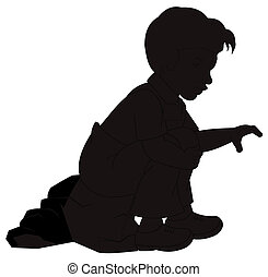 boy in silhouette