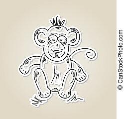 ape, sketch