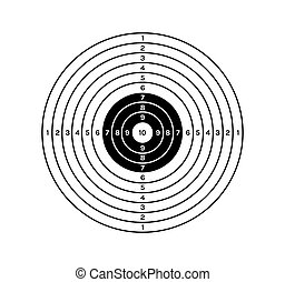 black and white target - target with black and white color...