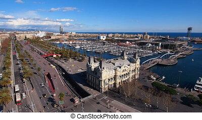 Port in Barcelona