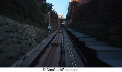 Vallvidrera Funicular - The Funicular de Vallvidrera in...