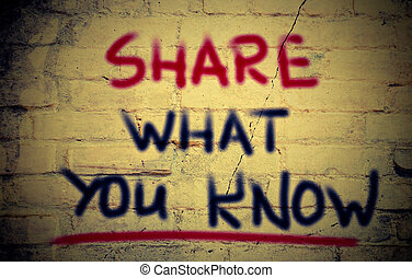 Share What You Know Concept