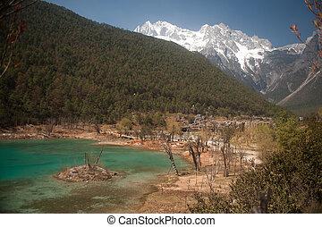 Blue Moon Valley at Lijiang,Yunnan Province, Southwestern of...