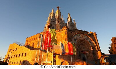 Tibidabo Temple in Barcelona - Temple of the Sacred Heart of...