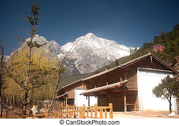 Jade Dragon Snow Mountain - Jade Dragon Snow Mountain near...