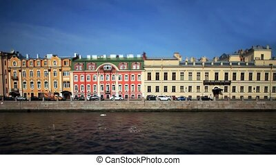 View of St Petersburg Film Tilt - View of the Fontanka river...