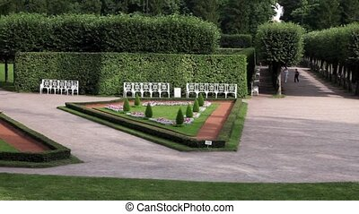 topiary symmetry of the old garden - topiary in the Regular...