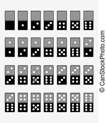 dominoes - Vector illustration of dominoes , isolated on...
