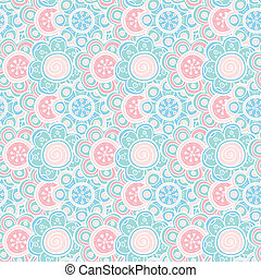 Floral seamless pattern. Vector illustration. Beautiful...