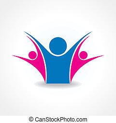 celebrate or unity icon concept sto