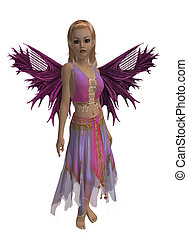 Summer Fairy - Pink and purple fairy standing up