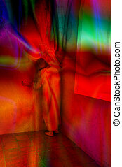 Psychosis - Colorful artistic picture of a woman in sorrow