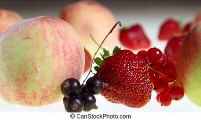 Dolly: Fresh fruit and berries background