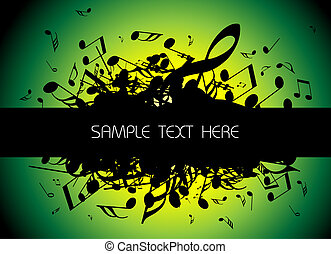 musical background with place for your text