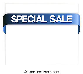 special sale blue ribbon - Horizontal special sale blue...