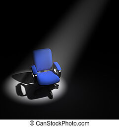 3d Office chair in the spotlight