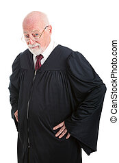 Serious Judge - Experienced judge with serious expression....