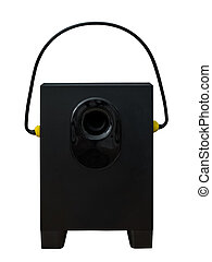 Sound speaker with ear protection plugs