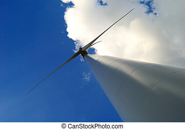 Wind turbine - Green energy - Wind power in Spain, renewable...