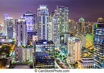 Miami, Florida, USA downtown cityscape.