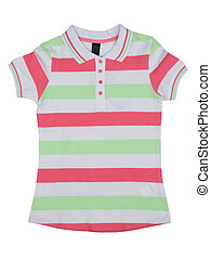 Striped polo shirt color. Isolate on white.