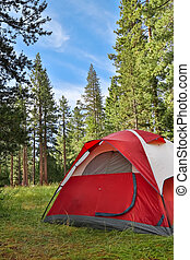 Camping - Campsite with tent