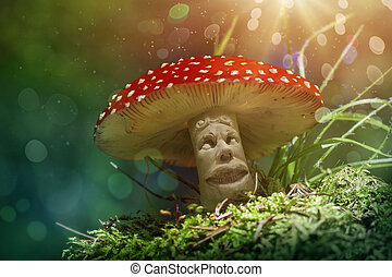 Fantasy mushroom in the forest