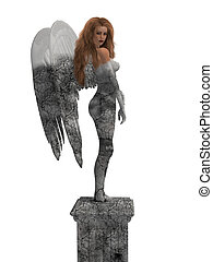 Angel Statue - Statue of an angel coming to life