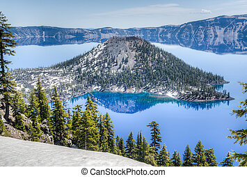 Wizard Island of Crater Lake National Park, Oregon