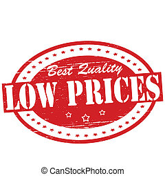 Low prices - Stamp with text low prices inside, vector...