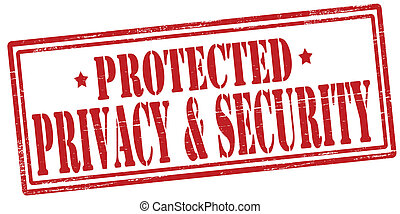 Privacy and security - Stamp with text privacy and security...