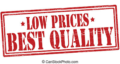 Low prices best quality - Stamp with text low prices best...