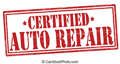 Auto repair - Stamp with text auto repair inside, vector...