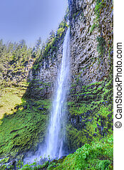 Watson Falls, Oregon - Watson Falls in the North Umpqua...