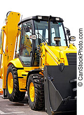 Digger - Close up shot of yellow construction digger